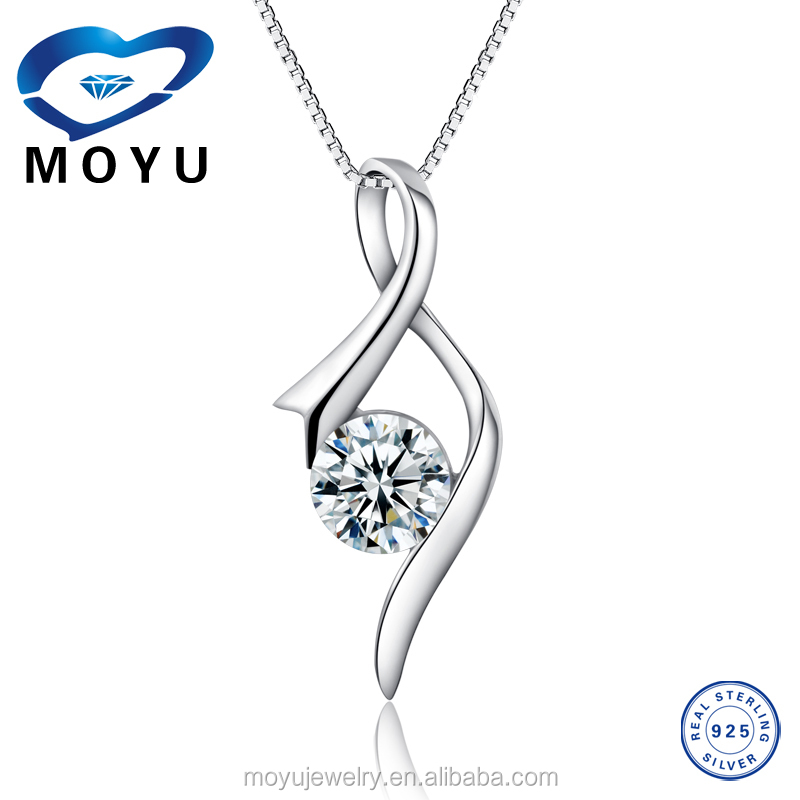 2015 wholesale metal silver necklace silver pendant classic jewelry