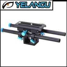 YELANGU 1/4 3/8 Screw Quick Release Plate 15mm Rail Rod Support Camera Mount Baseplate