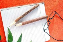 wooden Neem Pens & Pencils, Eco friendly Products, Office & School Supplies, Business Gifts, Wooden Name Carving Pen