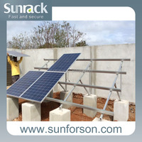 Strong Concrete Based Ground Solar Mounting PV Mounting System