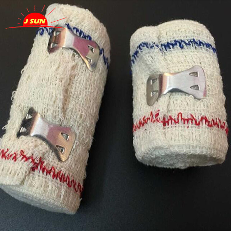 Crepe elastic cotton bandage made in china with factory price