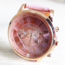 vogue sport 2014 new arrived cheap lady leather strap watch