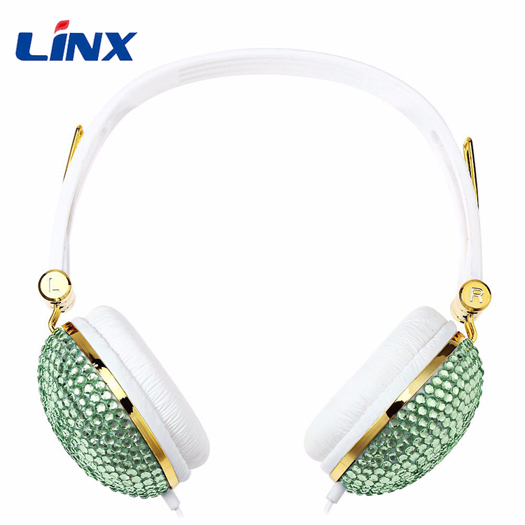 Fashion Bling Diamond Headphones Rhinestone Wired Headband Headset Stereo headphones