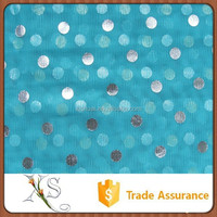China Supplier Dots Bronzing Mesh Fabric For Curtain Gauze