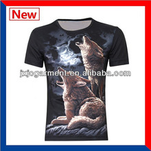 Hot Sale korea fashionable new style mans 3d animal t-shirts