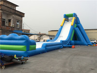 2016 Hot durable hippo giant inflatable water slide parts for adult
