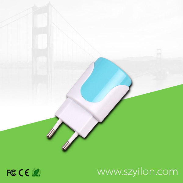 Changeable Plug 2 Port USB Wall Charger Dual USB Wall Charger 2a with UK US AU EU Soket