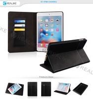 Magnetic real leather stand tablet case for apple ipad mini 4