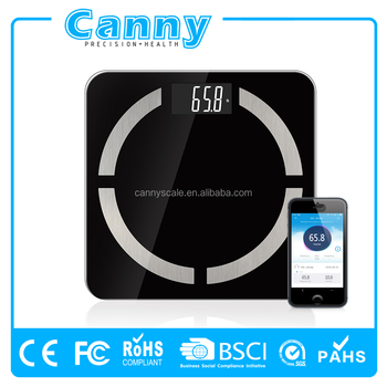 6 in 1 bluetooth fat weighing scale digital 180kg with free app