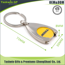 Factory price trolley coin keyring and floating keyring with key shaped keyring
