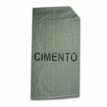 Cyan, green color pp woven valve bag with offset printing for cement
