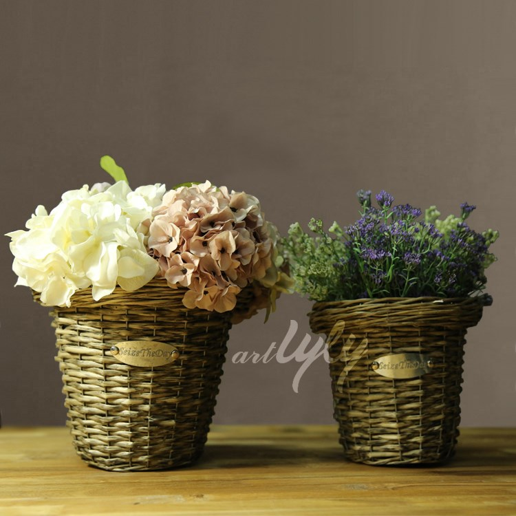indoor decorative wicker flower plants sale