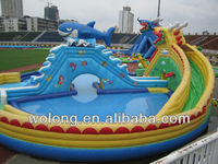 giant inflatable water slide, inflatable floating water park