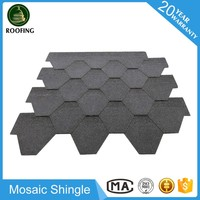Mosaic waterproofing roofing shingles,colorful asphalt shingle with great price