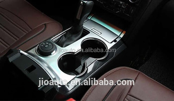 Car accessories ABS Chrome car interior cup holder water cup holder cup stander decoration trim for ford explorer 2016 parts