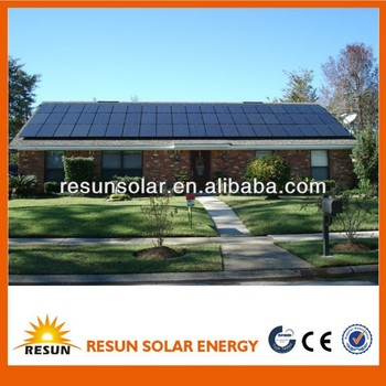 complete set solar panel system solar power system 2kw for home electricity use