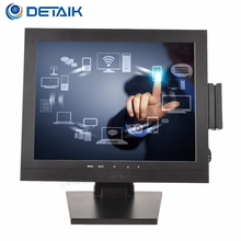 Detaik Factory TFT LCD Computer Monitor, 15inch PC Touch Screen Monitor with MSR