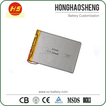 Super thin li ion rechargeable battery 3.7v 3000mah 3570100 for tablet PC