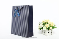 Custom Made Stripe pattern Luxury paper shopping bag