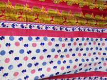 New Arrival 2015 100% recyled cotton authentic handmade kantha stitched reversible saree quilts/Baby blankets/Throw/Bed cover