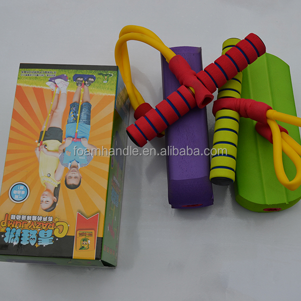 Wholesale boungee jumper kids safety toy jumping stilts jumping shoes jump stick