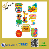 Dollar Tree Store Popular items 8PK Summer Luau Party Paper Cutouts Decoration/Window Beach Items Paper Decoration