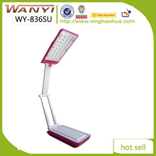 High quality folding solar recharging table lamp/ desk light/ reading light with AC DC