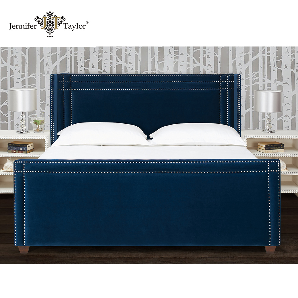 Modern bedroom furniture king size wooden bed frame 52070-4-859-2