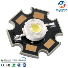 high lumen 1w epileds chip 3v white LED with PCB