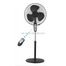 fan parts remote control 16 inch cross base stand fan hand fan