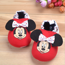 Minnie cartoon soft sole baby cotton shoes 2017wholesale