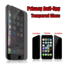 Anti Spy Film Electric Privacy 0.26mm Premium Tempered glass screen protector for iphone 7