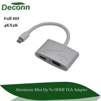 2 in 1 thunderbolt Mini DP 1.2V to VGA and HDMI converter Adapter Video for Macbook 4K 2K 3D cable