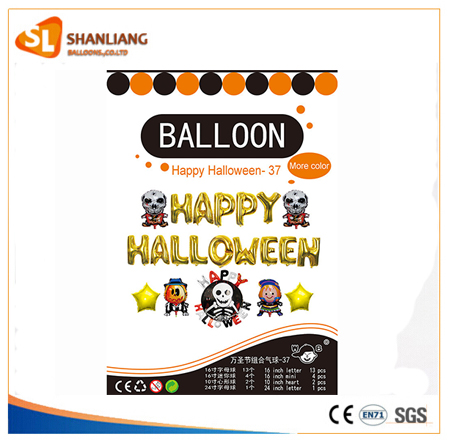 Theme party Balloon mother's day, christmas day, Happy Halloween Decoration Foil Party Set
