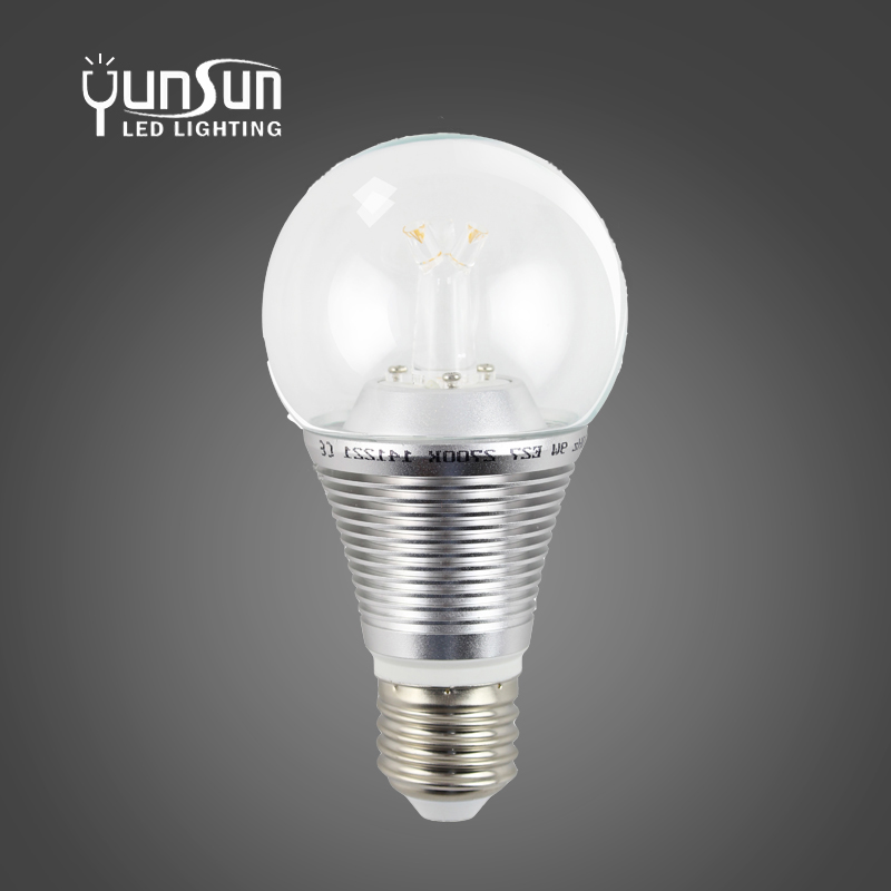 2017 new design 7W 3 finger light distribution dimmable E26 E27 360 led bulb with CE ROHS certification