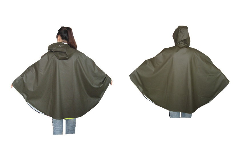 PU/polyester rain suits poncho 2018 PU rainwear bike coat cover durable rainwear