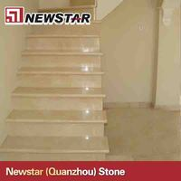 Precut high quality indoor marble anti-slip stairs
