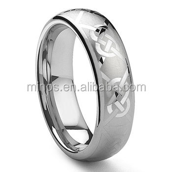 Tungsten Carbide Laser Engraved Celtic Knot Ring