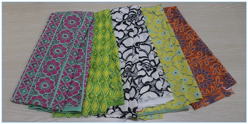 2016 Latest wholesale chemical guipure embroidery cord african cotton sarees lace fabrics