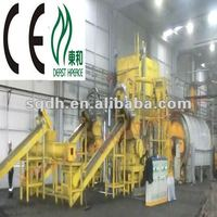 high SPC--WJ-8 waste tyre/tires recycling pyrolysis to fuel oil production line