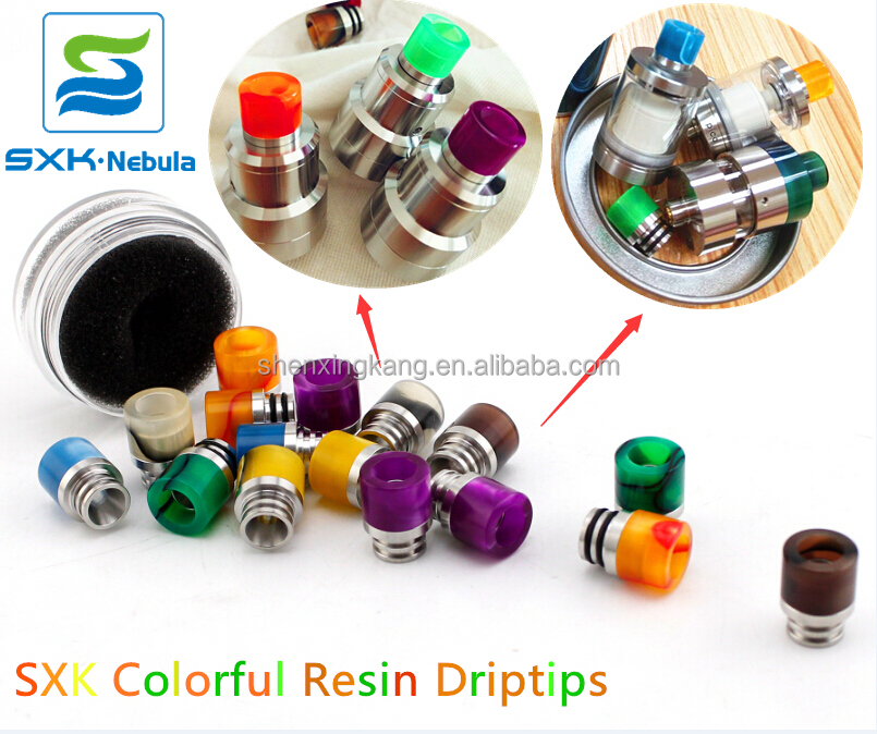 SXK New Style & Colorful resin driptips 510 drip tips