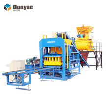 Concrete Brick Raw Material and Concrete Block Molding Processing hollow block making machine qt4-25