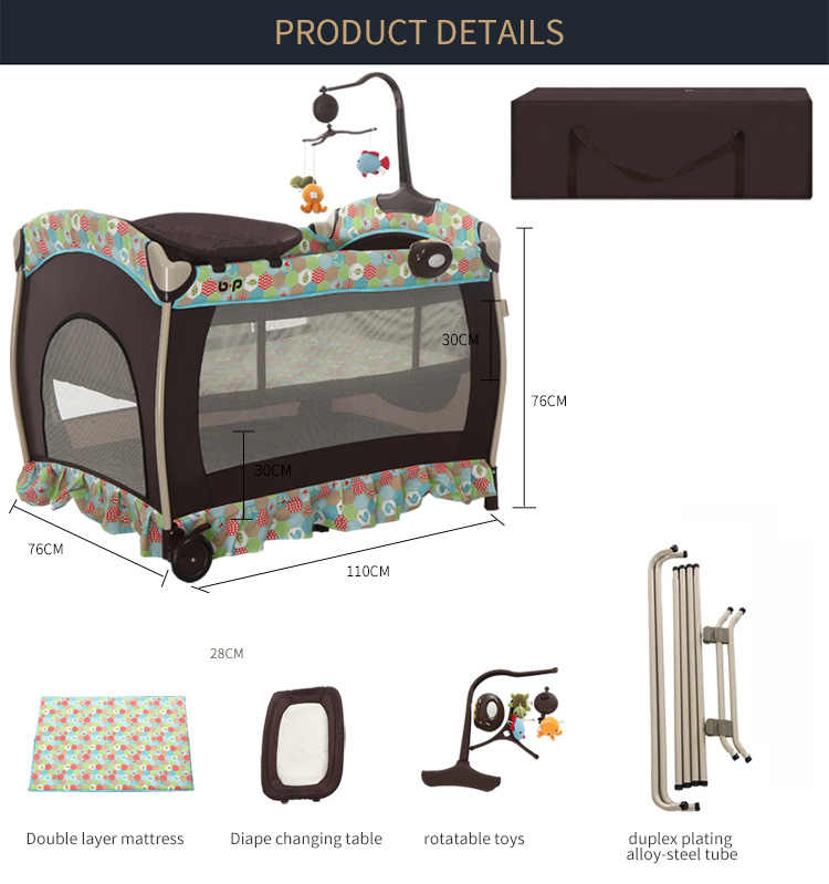 European baby playpen hot selling baby crib portable folding baby bed