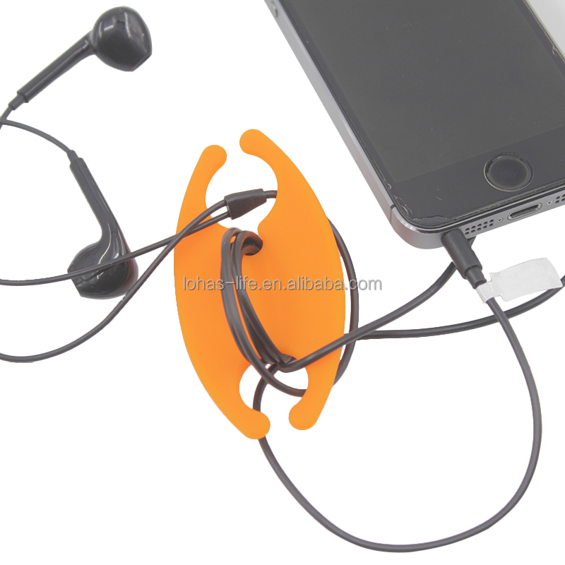 Simple and Practical Cable Organizer Silicone Earphone Cable Winder