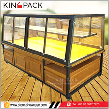 China factory customized bakery display cases non refrigerated food display cabinets for sale