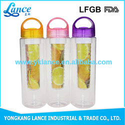 New Tritan BPA free water bottles water fruit / tea infuser bottle with customized logo printing