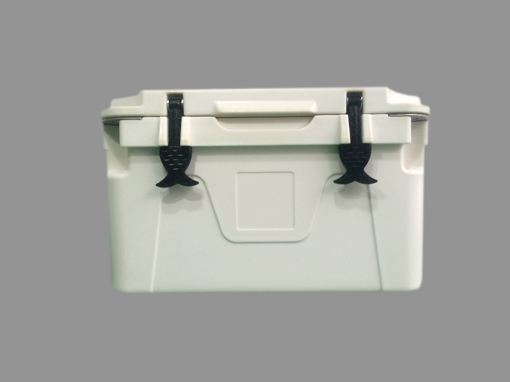 Plastic large rotomolded food ice chest for camping