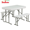 Hot sell 3pcs folding picnic/beer plastic dining set