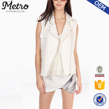 Wholesale Clothing Manufacture Women White NeoprEne Vest Jackets