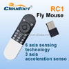Flexible Six axis gyro sensor fly air mouse 2.4G wireless remote control for electric meter android system PC, smart tv iptv